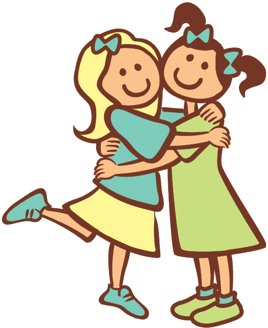 png download Clipart kids talking. Three friends clipground best