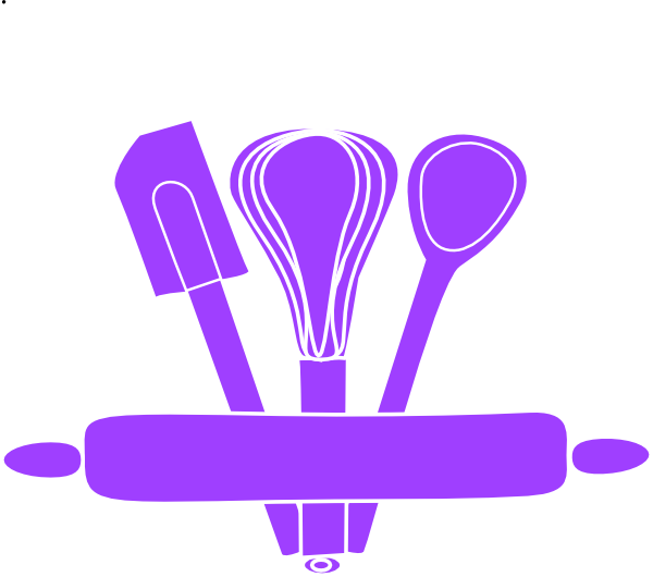 svg black and white download Purple Kitchen Utensils Clip Art at Clker