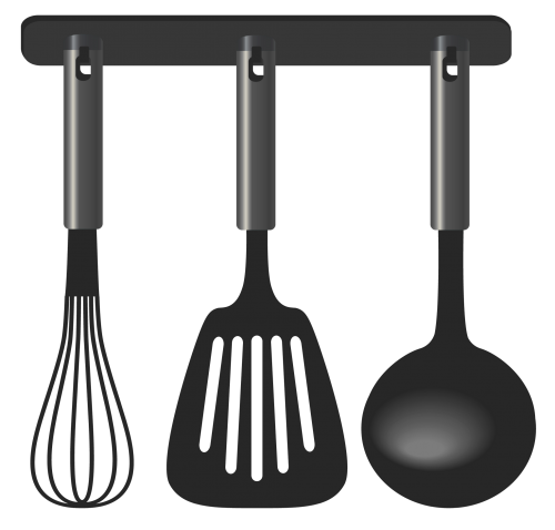 banner free Black Kitchen Tool Set PNG Clipart