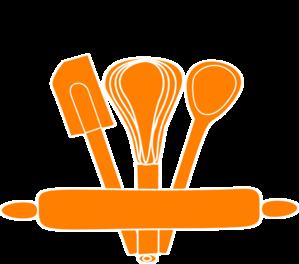 vector freeuse Orange Kitchen Utensils Clip Art at Clker