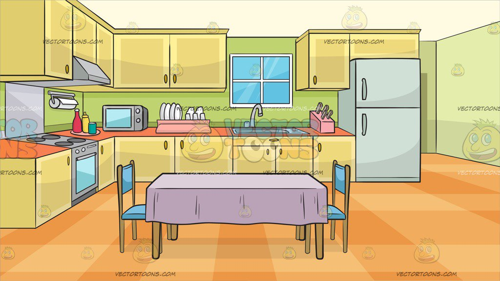 clipart freeuse download Clipart kitchen. Station