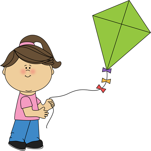 png free Girl Flying a Kite