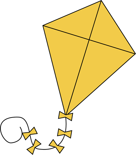 clipart free download Clip art images yellow. Clipart kite