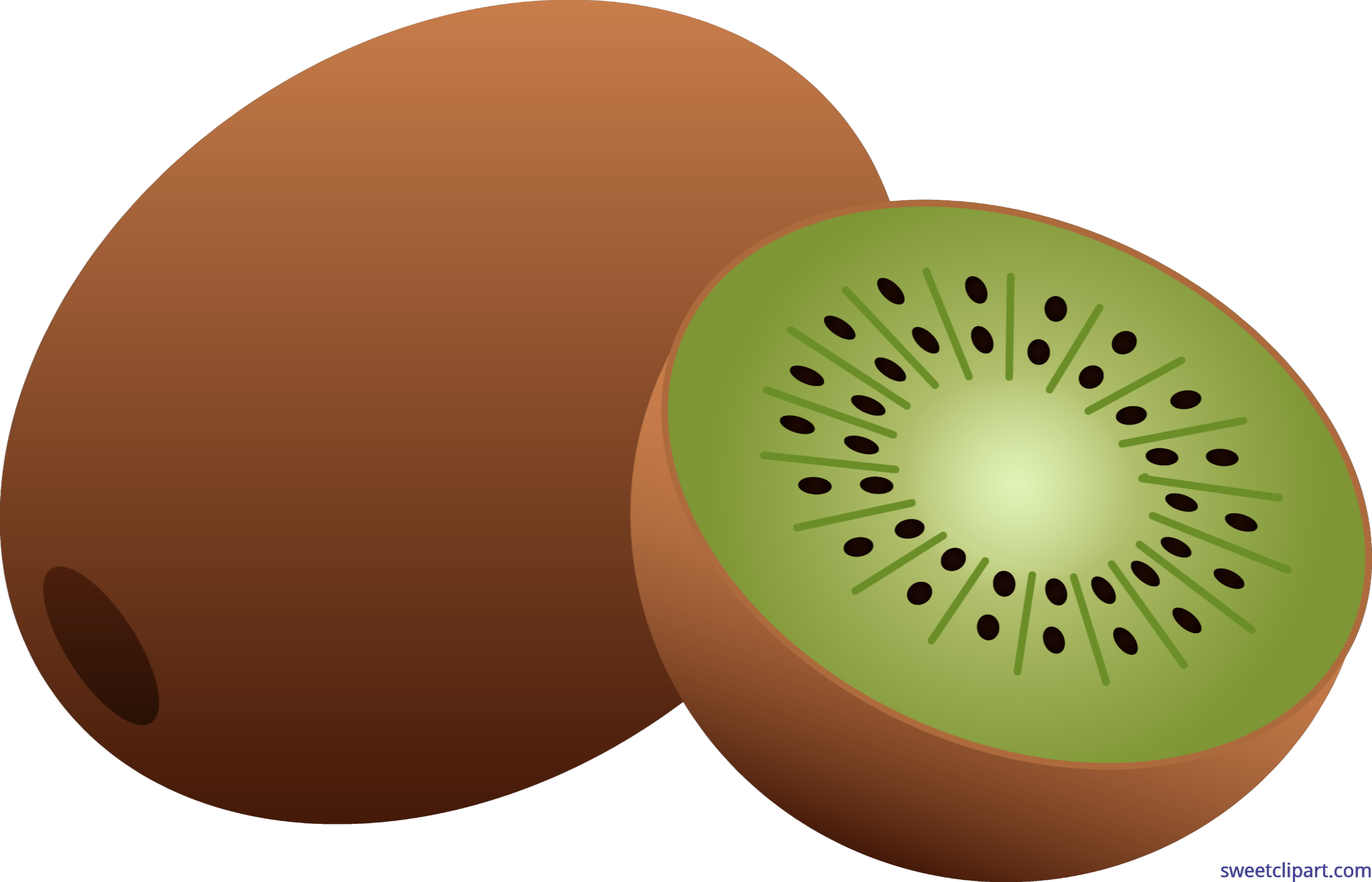 vector transparent download Fruit clip art sweet. Clipart kiwi