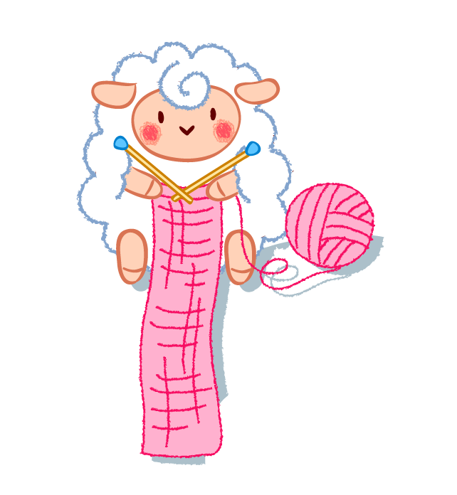 clip freeuse Sheep textile scarf clip. Clipart knitting