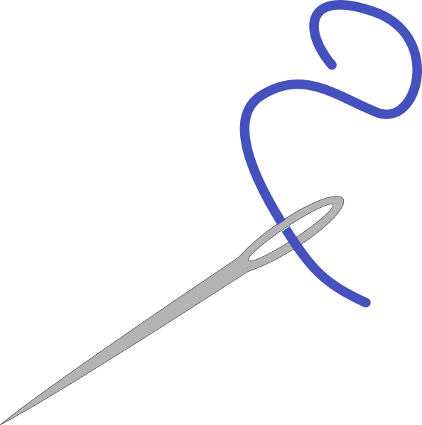 image freeuse Clipart knitting needles. Needle with blue thread