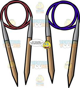 image royalty free library Circular . Clipart knitting needles