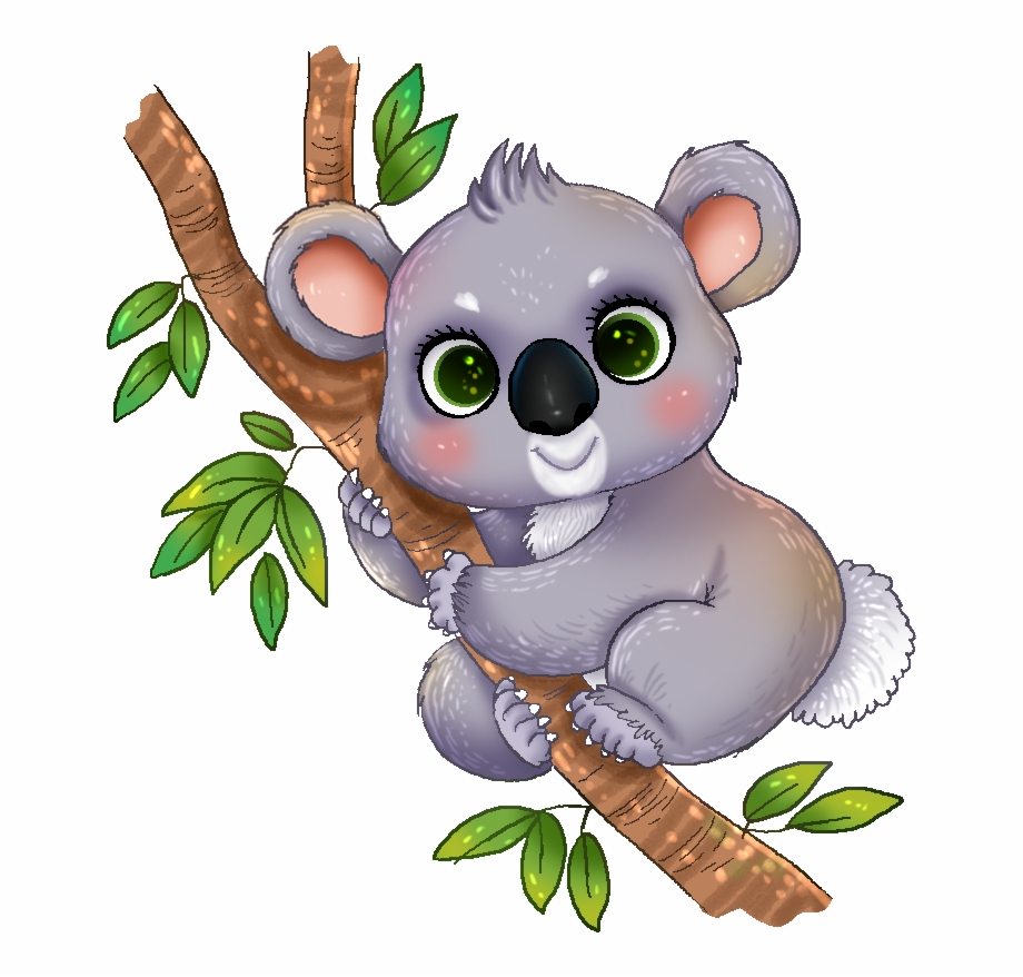 picture black and white library Clipart koala. This cute adorable clip
