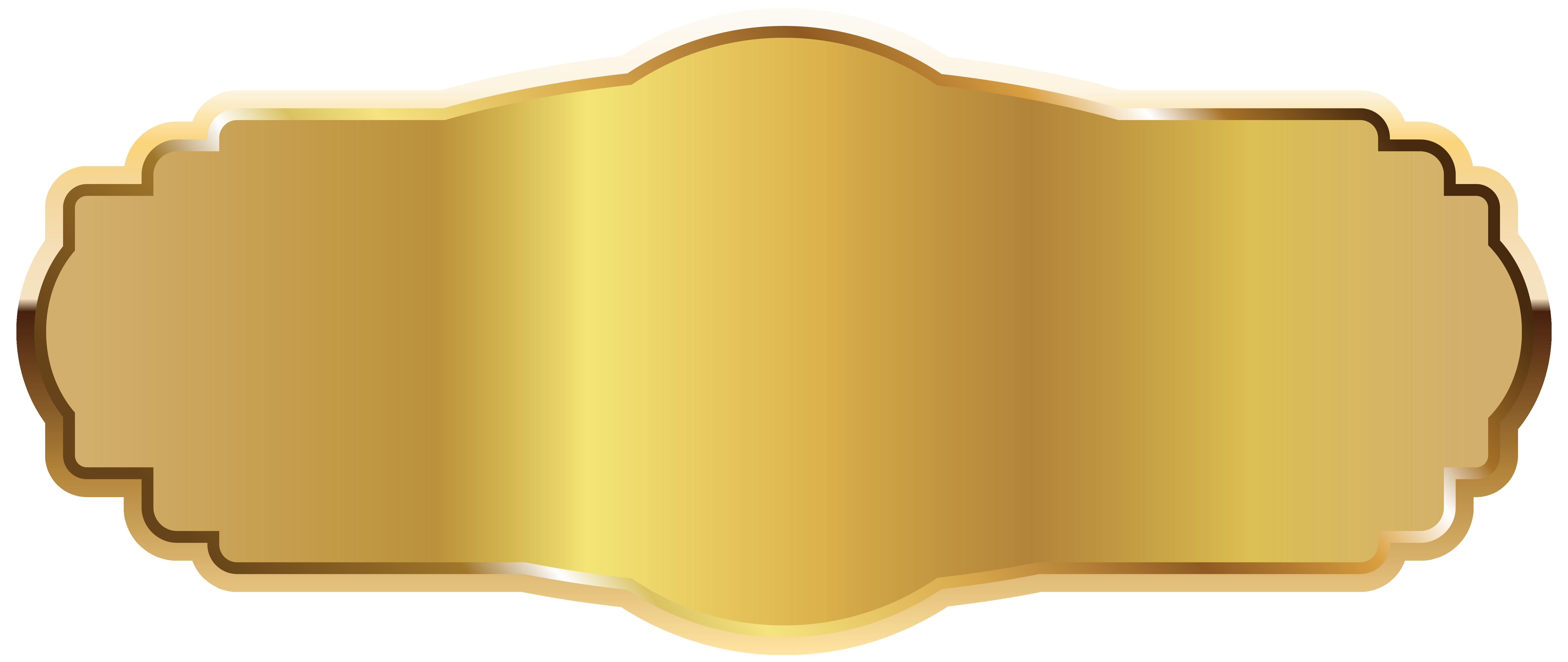 picture transparent download Clipart label. Gold png image labels