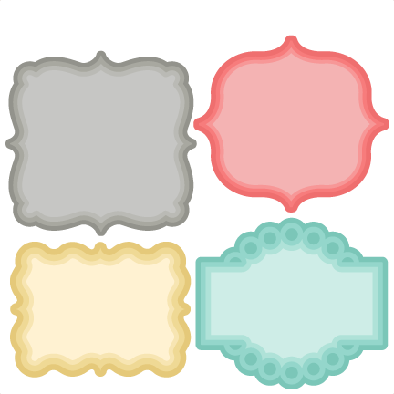svg library Silhouette at getdrawings com. Clipart label shapes