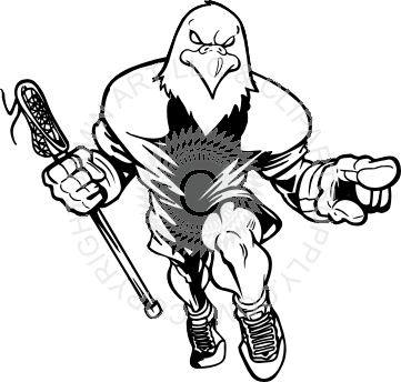 royalty free library Clipart lacrosse stick. Eagle holding and pointing.