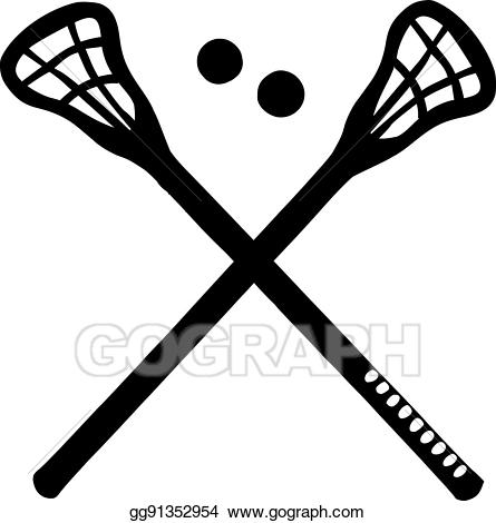 free stock Lacrosse vector two. Clip art crossed sticks