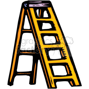 graphic Yellow royalty free . Clipart ladder
