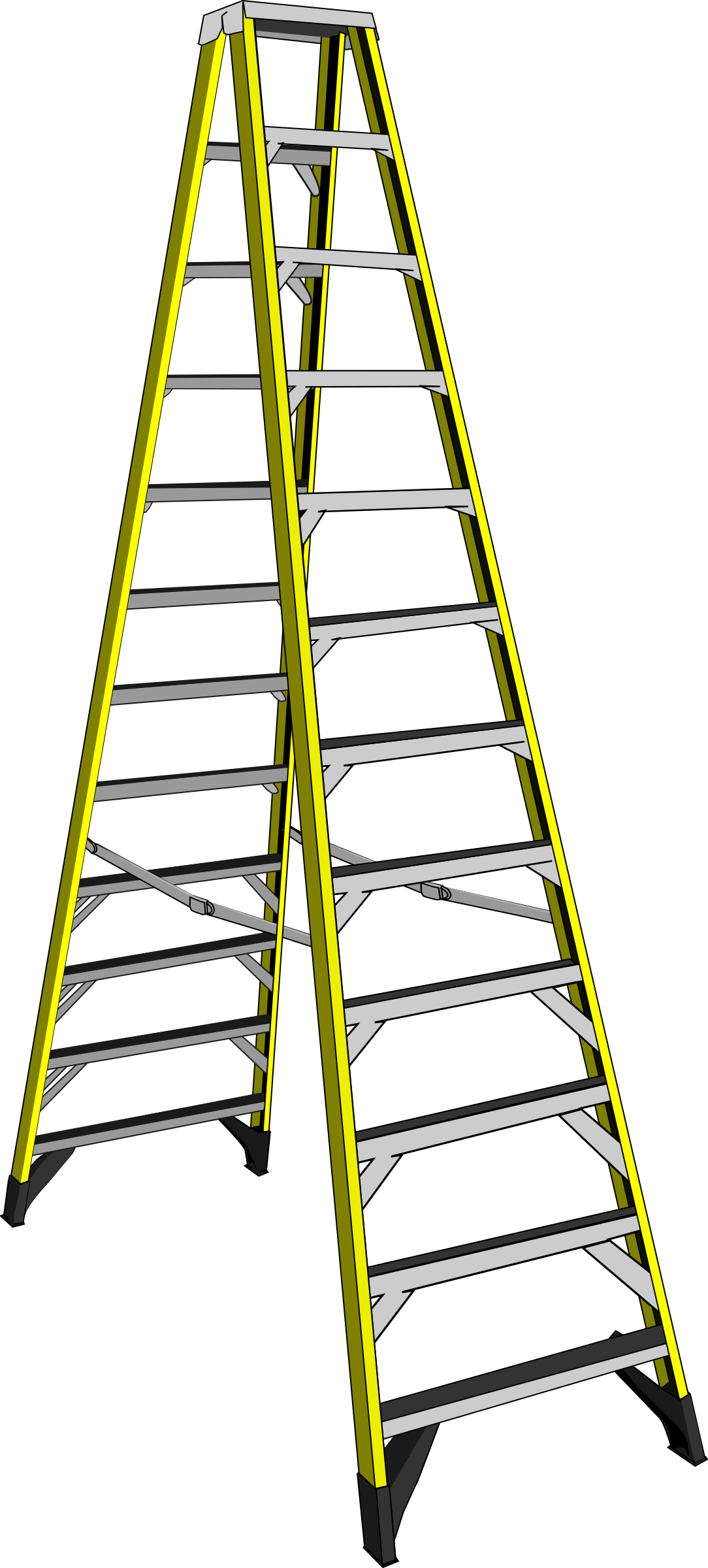 jpg library stock Clipart ladder. Large yellow big image.
