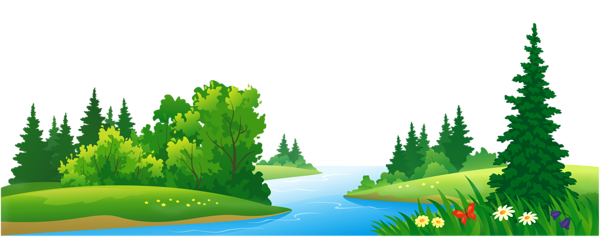 clipart transparent stock Grass Lake and Trees Transparent PNG Clipart