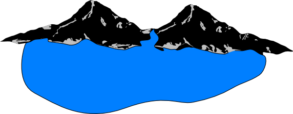 svg royalty free library Lake clipart. Mountain .