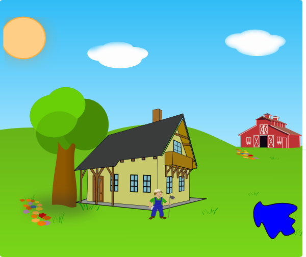 clip free download Farm Background With Lake Clip Art at Clker