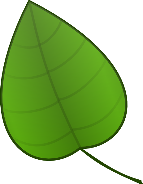 royalty free Vector cartoons leaf. Cartoon clipart