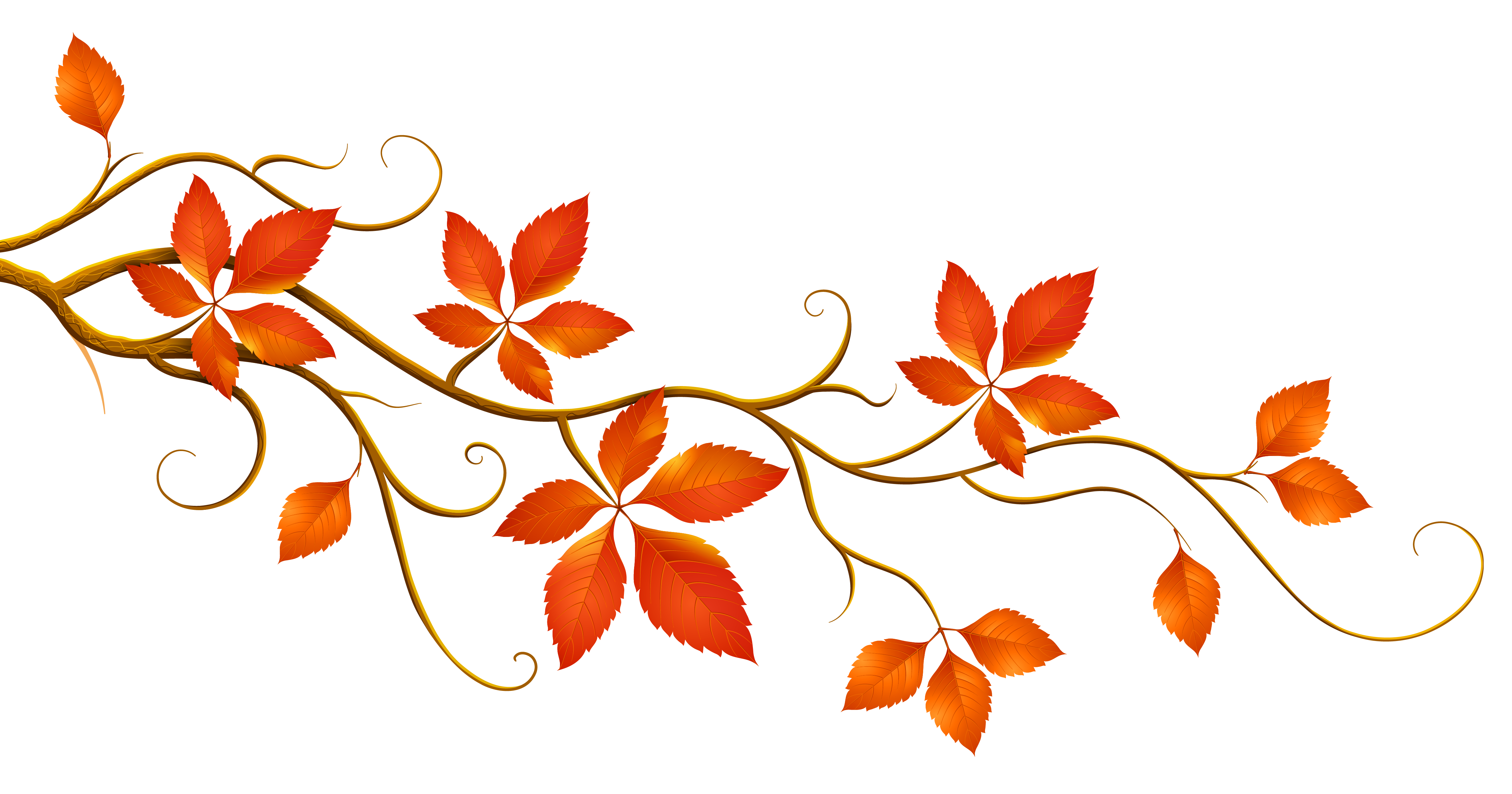 banner royalty free download Decorative Branch with Autumn Leaves PNG Clipart