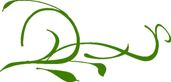 clip art transparent download Green Leaves Swirl Clip Art at Clker