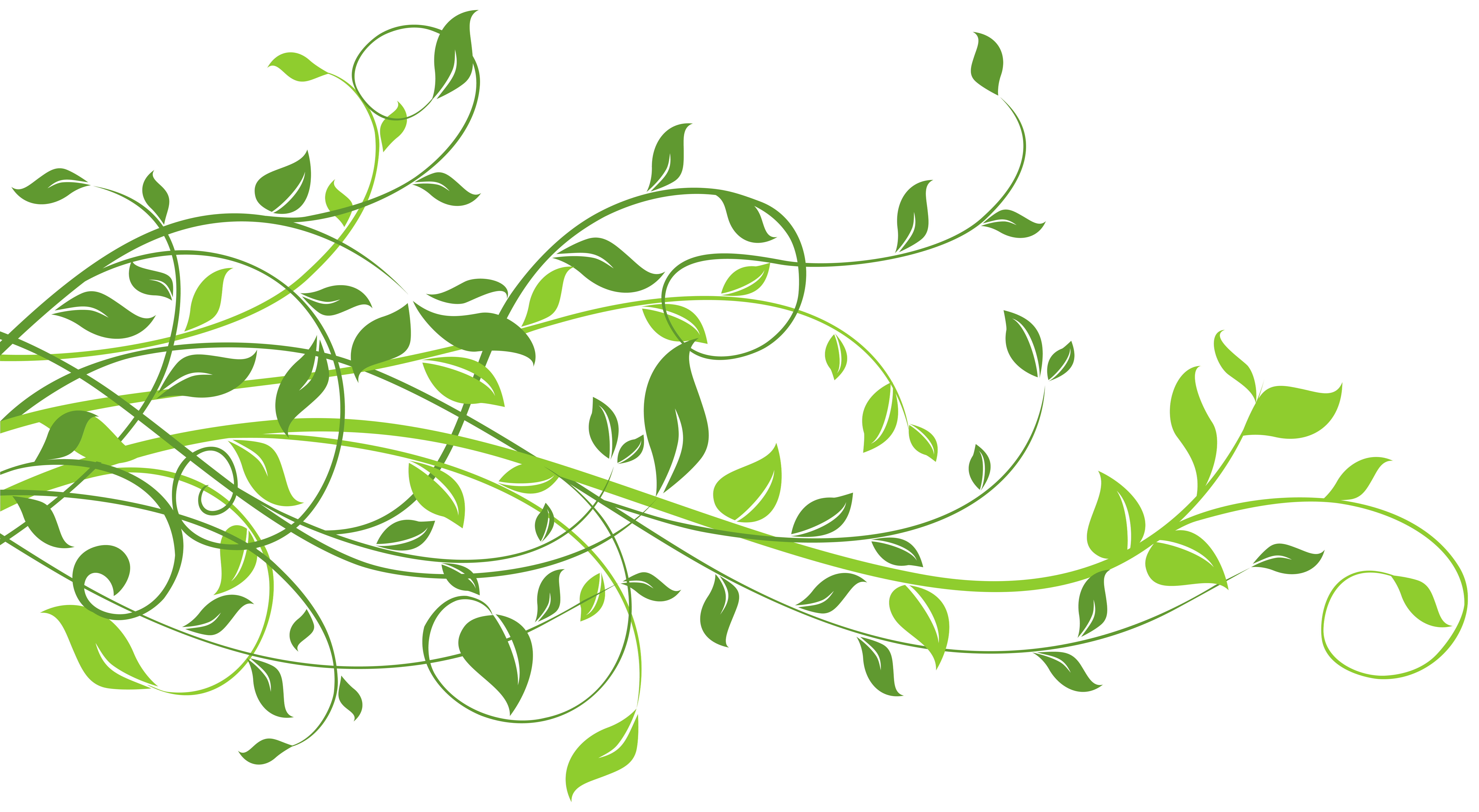 clipart free Spring Decor with Leaves PNG Clip Art Image