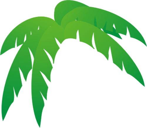 clip download Leaves clipart palm leaves. Tropical silhouette at getdrawings.