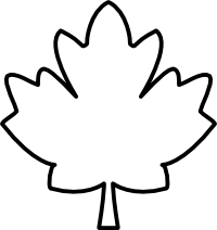 vector Maple clipart leaf pattern. Black and white panda.