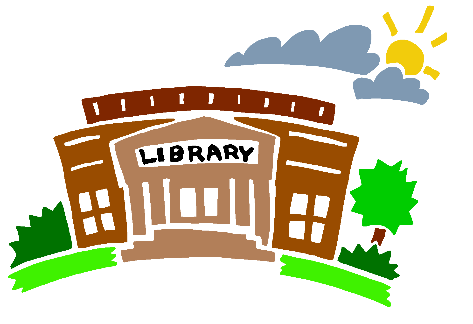 png free library Library Building Clipart