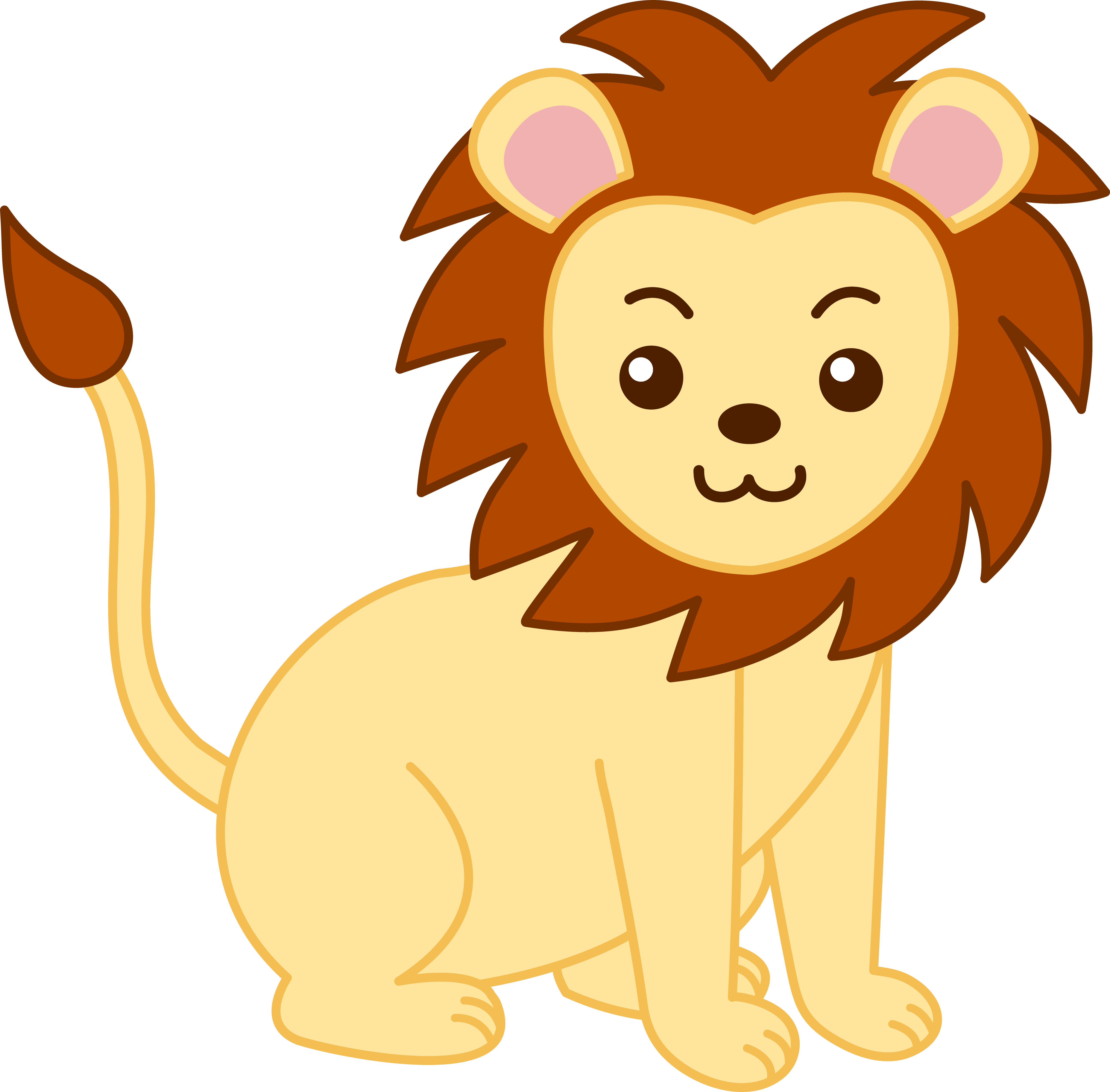 banner transparent Animal clipart free. Lion cliparts download clip