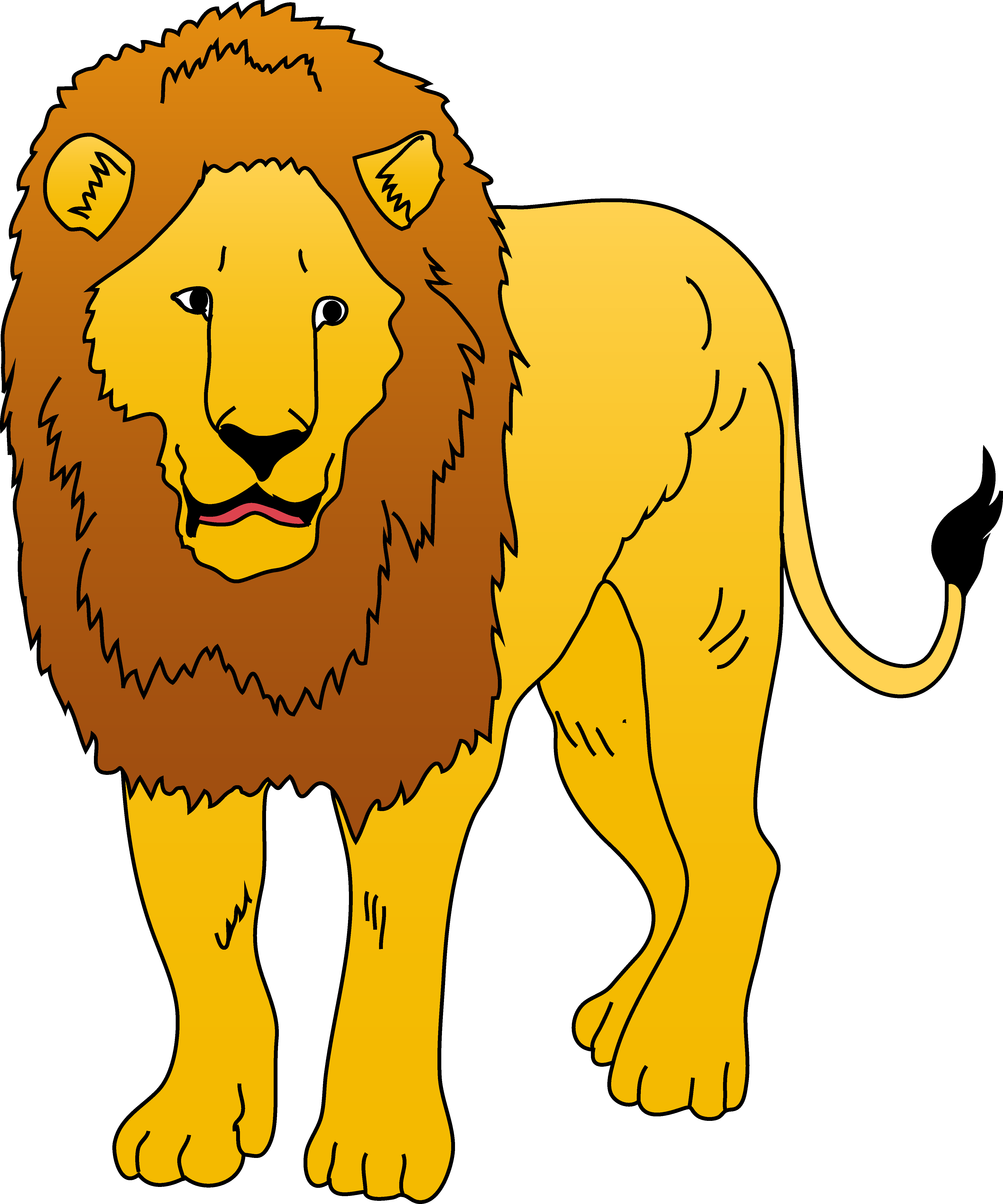 royalty free download Free lion cliparts download. Lions clipart.