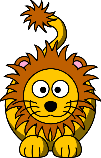 picture royalty free Golden clipart cartoon. Lion clip art vector