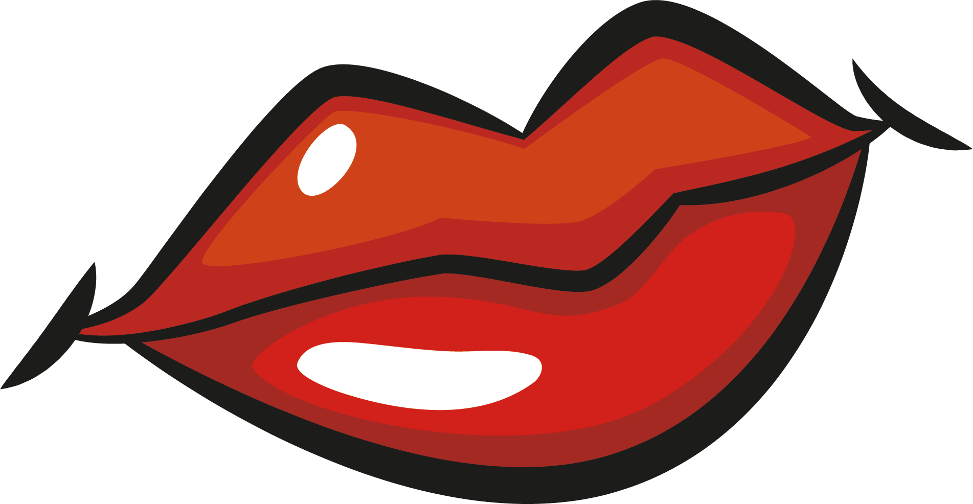 image free download Bean drawing mouth. Lip gloss clipart at