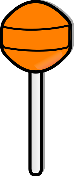 jpg black and white library Orange Lollipop Clip Art at Clker