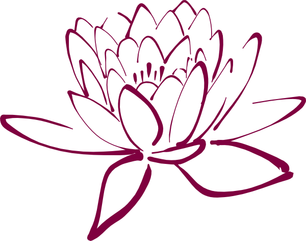 banner black and white stock Fuschia Lotus Clip Art at Clker