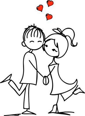 jpg black and white stock Couple clipart. Love free images clipartix.