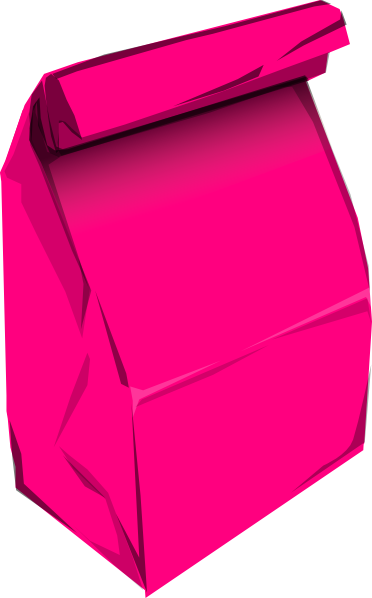 vector free library Pink Paper Bag clip art