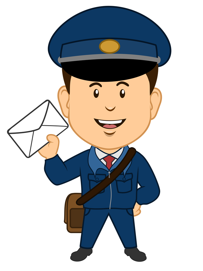 image library stock Mailman Clipart