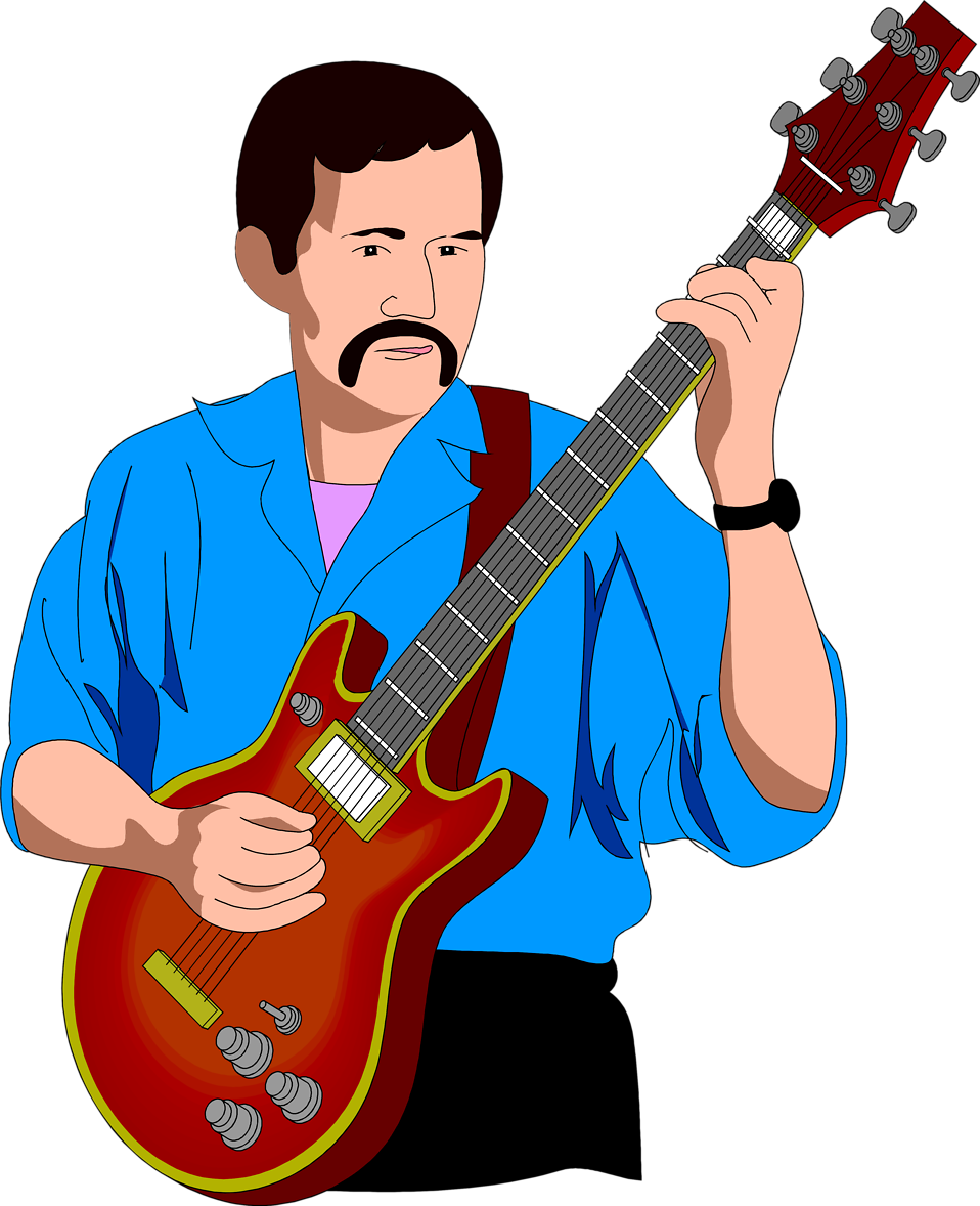 svg freeuse stock Free clipart man playing guitar