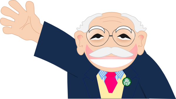 jpg library library Old Man Waving Clipart