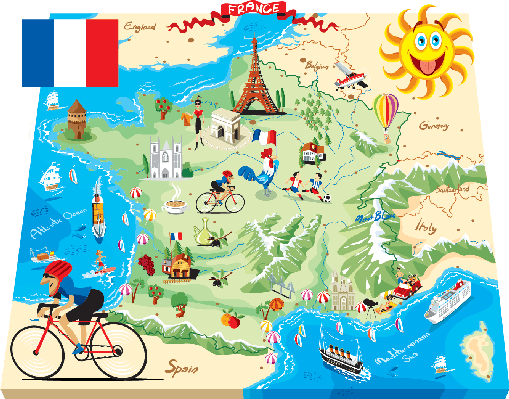 picture royalty free stock Cartoon map of uk. France clipart