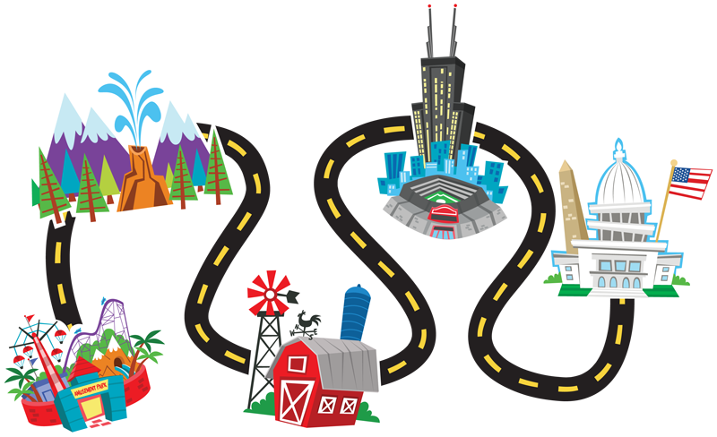 clipart Trip clipart. Maps road map free
