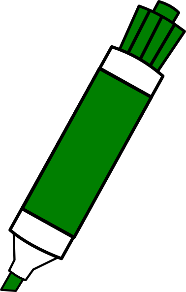 image free library Green Dry Erase Marker Clip Art at Clker