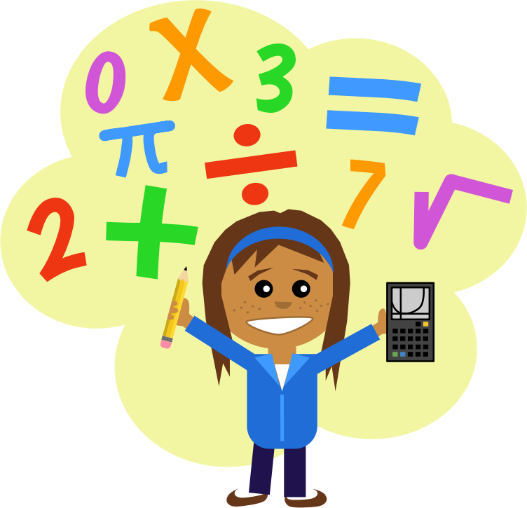 image royalty free library Mathematics project free on. Math clipart cartoon.
