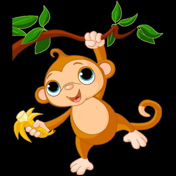 banner black and white Monkey images clip art