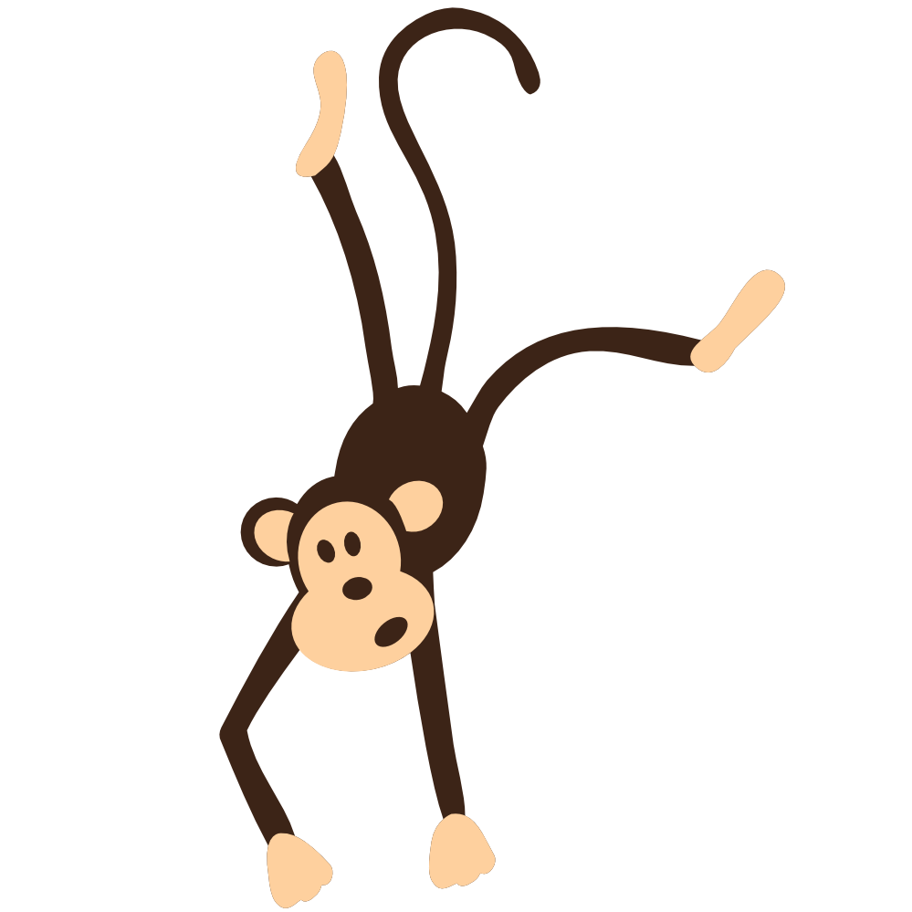 jpg transparent library Clipart monkey black and white. Clipartist net colorful animal