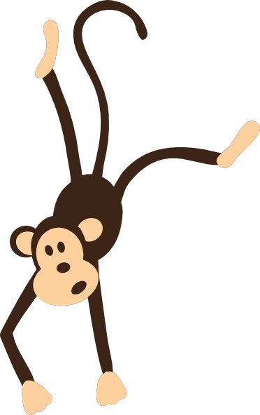 clip art transparent Hanging out with clipart. Monkey clip art vector.
