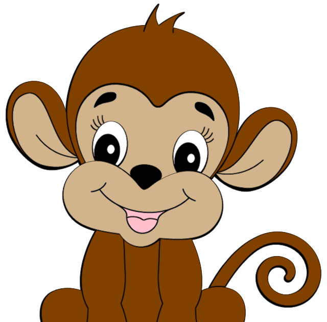 picture black and white stock Ape clipart cartoon. Monkey images cute is