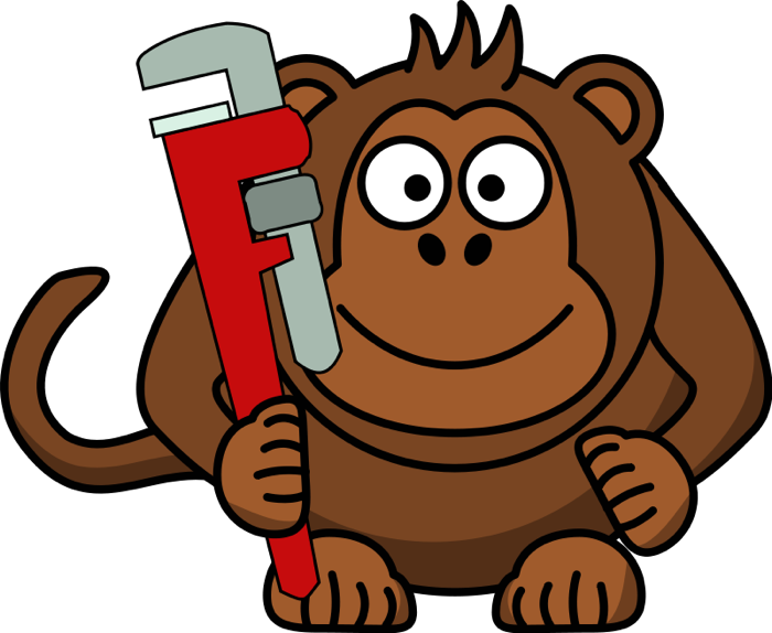 vector royalty free Free wrench. Monkey clipart.