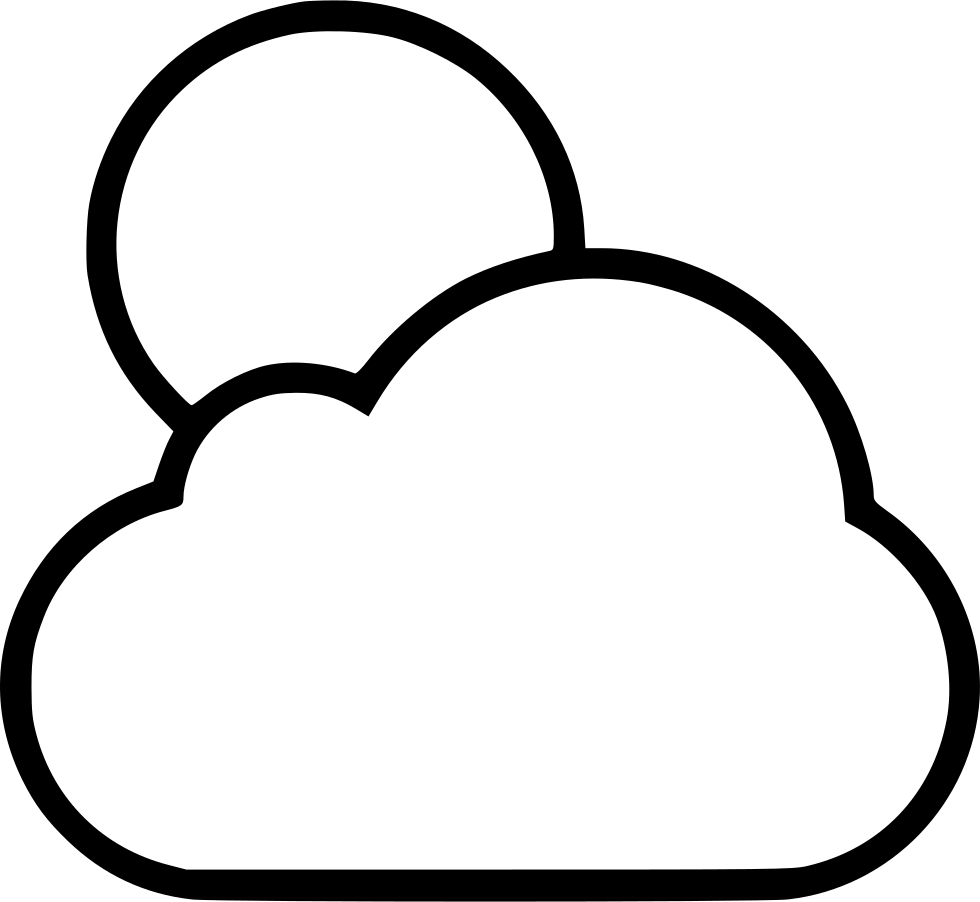 free Full drawing clouds with. Clipart moon black and white