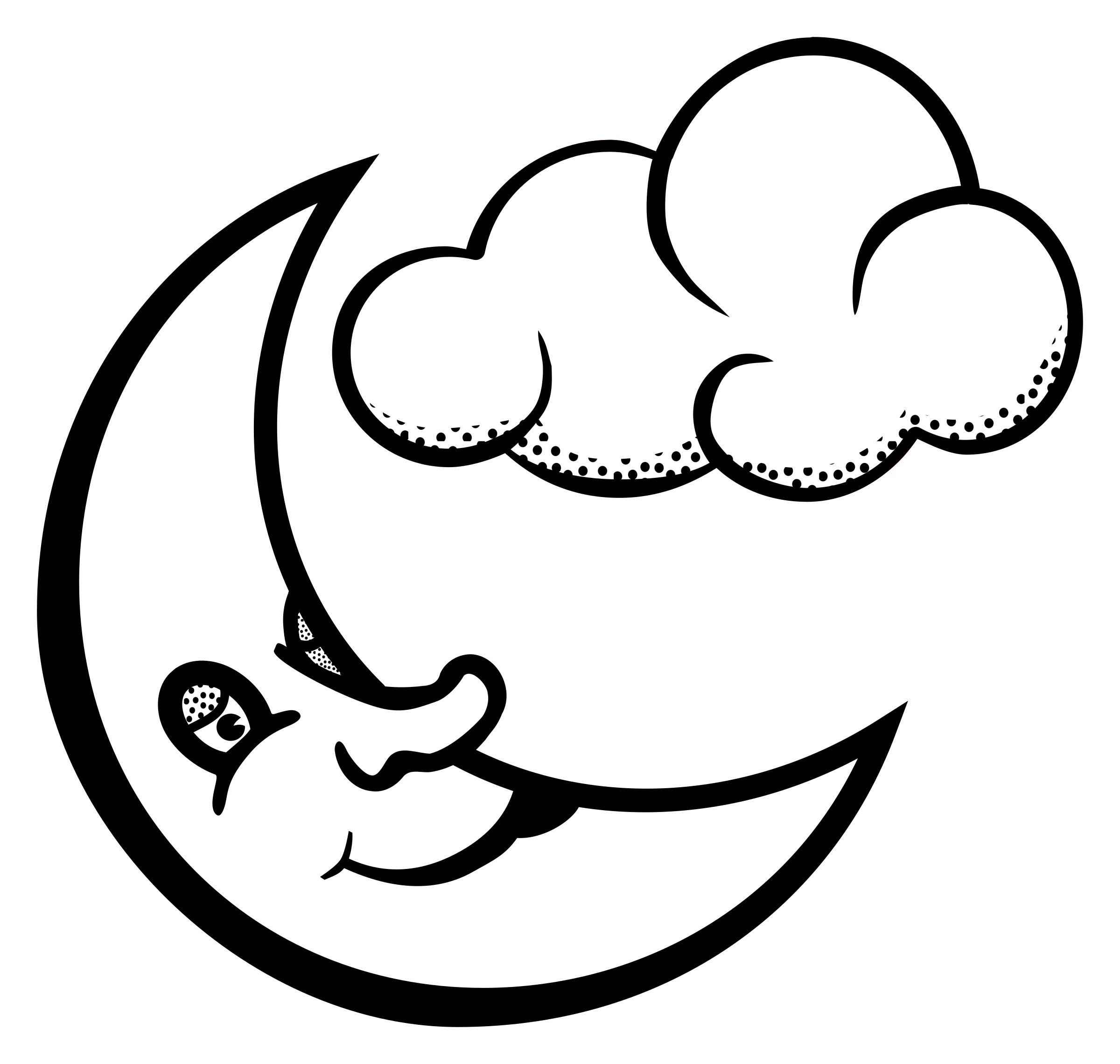 clip free stock Clipart moon black and white. Lineart big image png